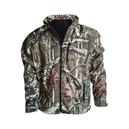 0559fc170fdd3 Dragon Heatwear Sahara Mens Heated Hunting Jacket - 3 Zone (S, Mossy Oak  Break