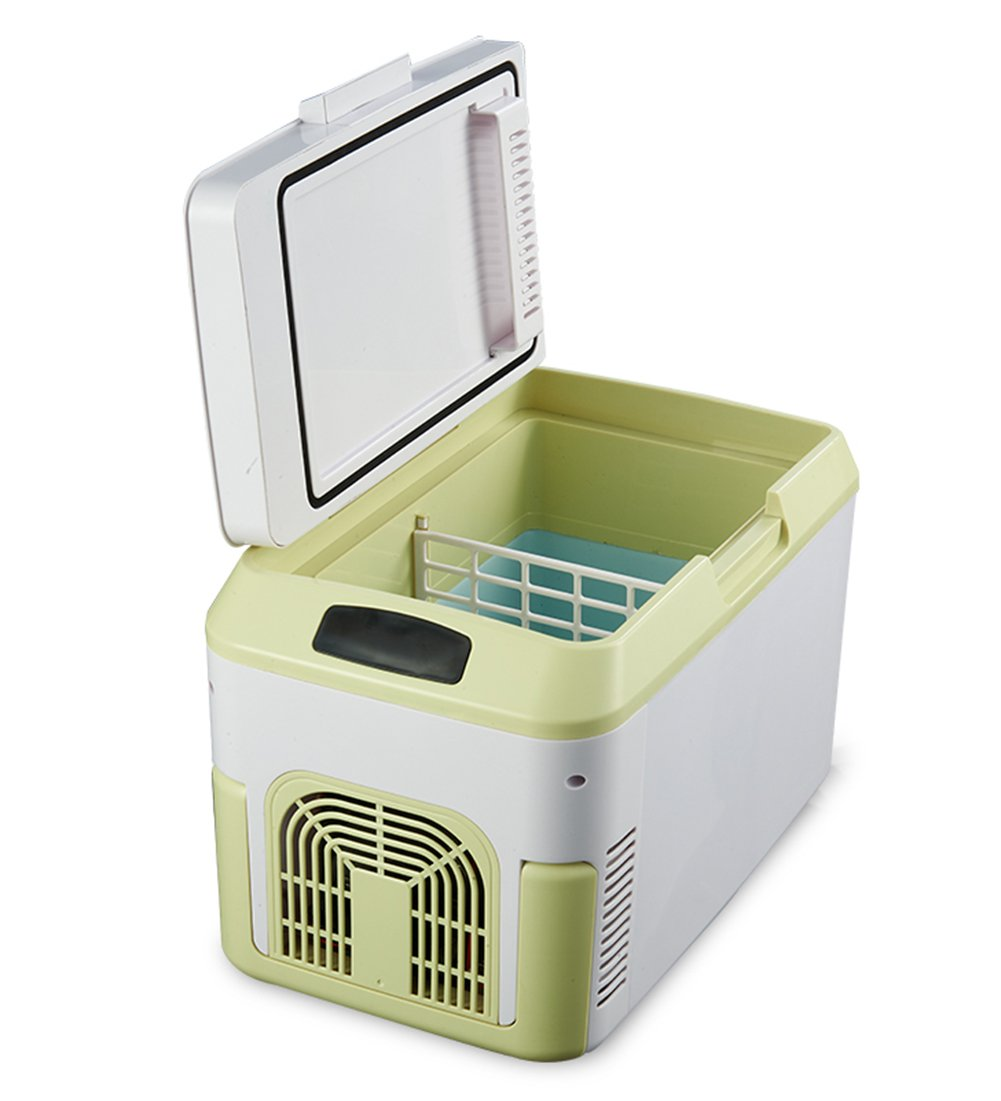 LIQICAI 12L Elektrische Kühlbox Auto Minikühlschrank Kühlung Geformte Tragegriffe Portabilität/12V DC (Auto)/220V AC (Zuhause)