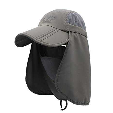 524d8f5163b FayTop Summer Men and Women Boonie Hat UPF 50+ Sun Hat Adjustable Fishing  Hat Bucket