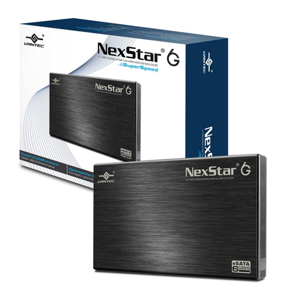 Vantec 2.5'' SATA 6Gb/s to USB 3.0/eSATA HDD Enclosure (NST-266SU3-BK)