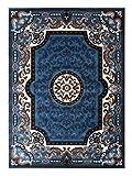 Traditional Area Rug Design D 123 Blue (8 Feet X 10 Feet) For Sale