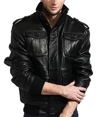 Tanners Genuine Leather Lambskin Bomber Avenue Men's Jacket OiZkPXuT