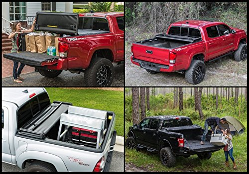 Gator ETX Soft Tri-Fold Truck Bed Tonneau Cover | 59110 | fits Chevy/GMC Silverado/Sierra 1500 (6 1/2 ft bed) 2014-18, 2500/3500HD - 2015-18, 2019 Silverado 1500 Legacy & 2019 Sierra 1500 Limited