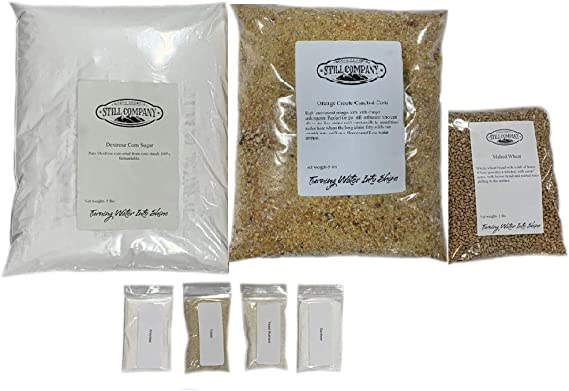Orange Creole Cracked Corn & Malted Wheat Whiskey Mash & Fermentation Kit by North Georgia Still Company