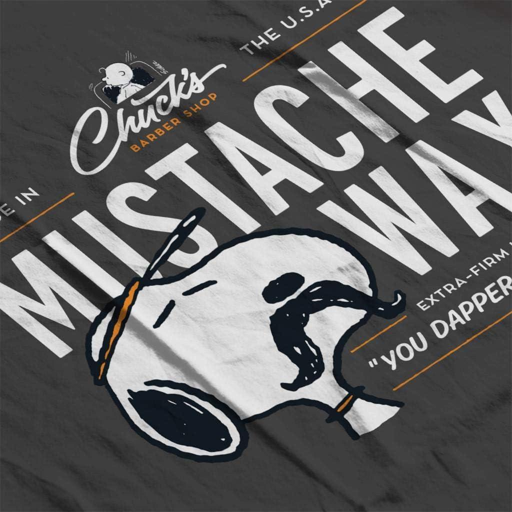 Peanuts Snoopy Mustache Wax Mens Sweatshirt