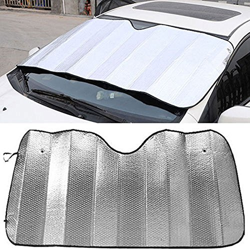 niceeshop tm front retractable car windshield sun shade. Black Bedroom Furniture Sets. Home Design Ideas