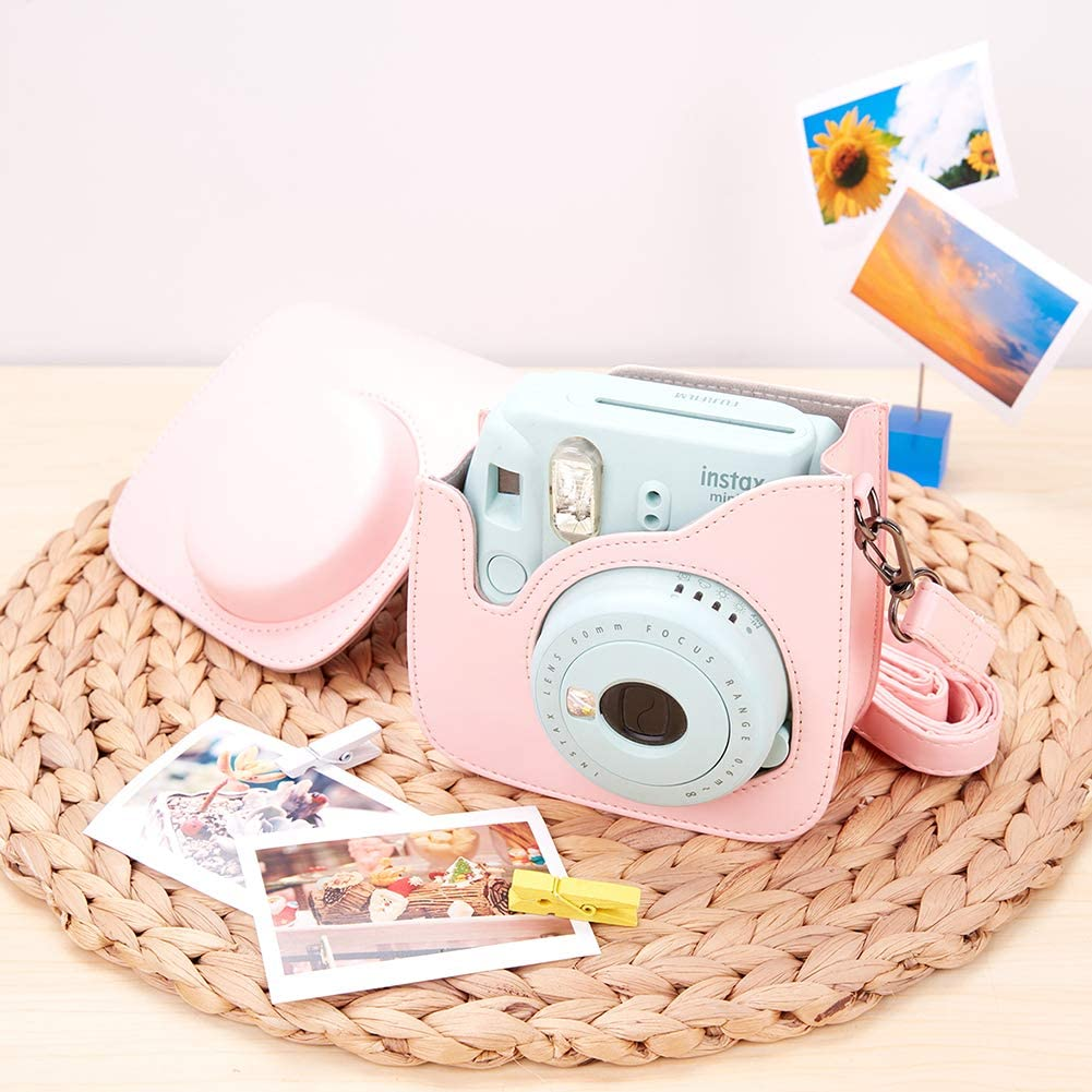 Mini 8 8 Sofortbildkamera aus Weichem Kunstleder mit Schulterriemen und Tasche Donut A Annle Tasche Kompatibel mit Instax Mini 9