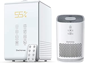 Elechomes SH8820 Warm and Cool Mist Humidifier and Elechomes EPI081 Air Purifier with HEPA Filter Bundle