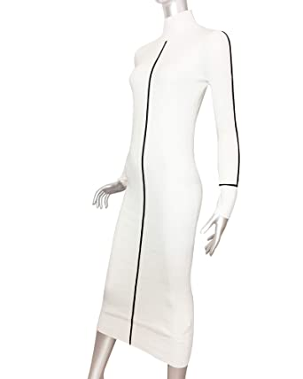 8dbe5d4266 Zara Women Ribbed Dress 3471 008 Off-White at Amazon Women s Clothing store