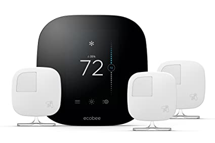 Ecobee3 Smart Thermostat 3 Room Sensors Works With Alexa