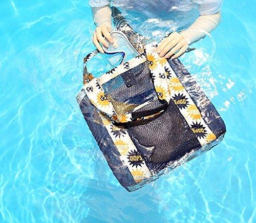 Sac Sac de Mode filles d'épaule maille en tout Sac Portable Butterme femmes Mesh de fourre pour Orange plage qxSUwAEC