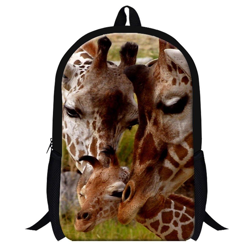 Genericキリン3dプリントスクールバックパックfor Studentsメンズファッションハイキングバッグ GiveMeBag  Giraffes1 B019K331GM