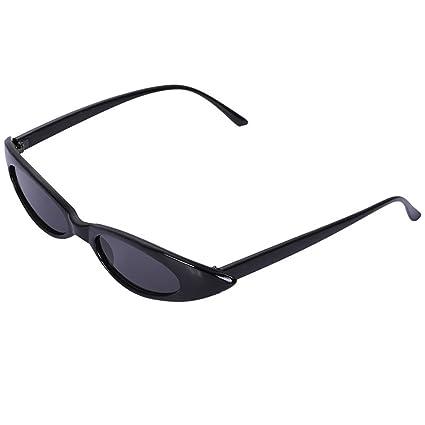 SODIAL Gafas de sol pequenas de ojo de gato Mujeres Retro ...