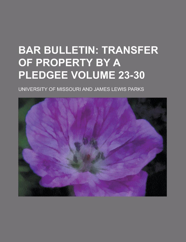 Download Bar Bulletin Volume 23-30 PDF
