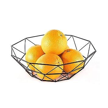MSF Estante de plato Cesta de fruta para sala de estar, Cesta simple creativa del almacenamiento ...