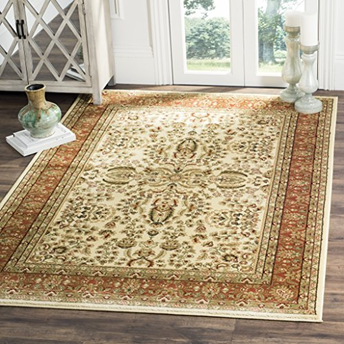 Safavieh Lyndhurst Collection LNH214R Traditional Oriental Ivory and Rust Area Rug (5'3