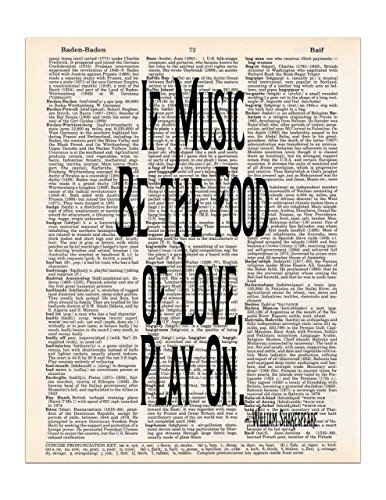 If Music Be the Food of Love, Shakespeare Quote, Twelfth