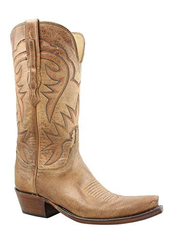 c034826eb8d Amazon.com | Lucchese New Womens Hl4509.54 Tan Burnished Cowboy ...