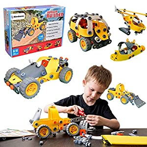 61cnSpw2HJL. SS300  - [Bonus Bag] Simbans JB 148 pcs 5-in-1 Build and Play Toy Set | Kids STEM Educational DIY Building Kit for 8, 9, 10 Year…