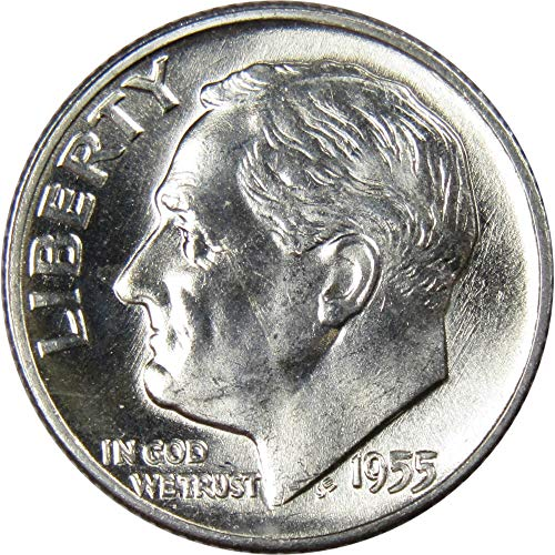 1955-D 10c Roosevelt Silver Dime Uncirculated Mint State ()