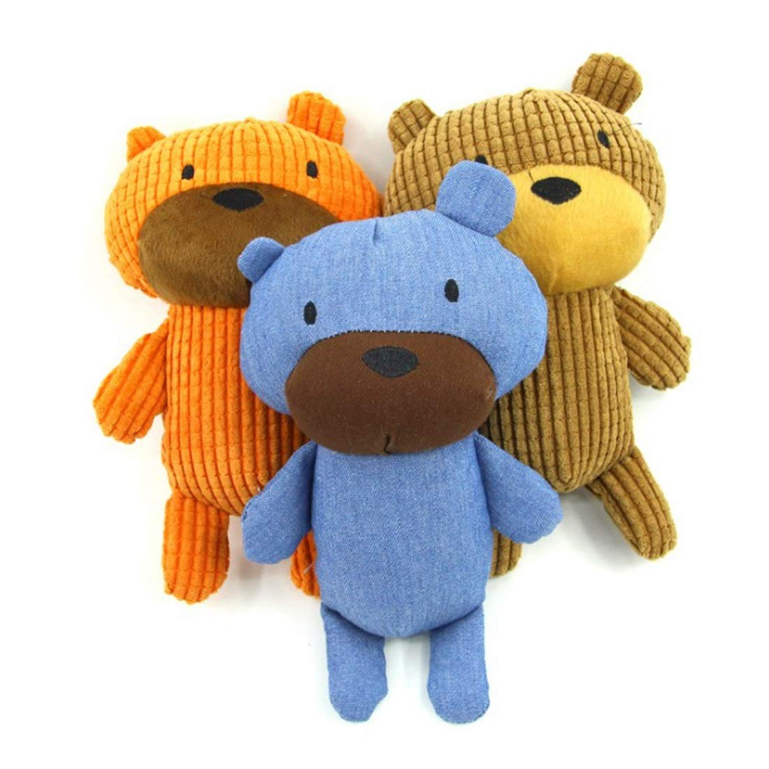 3 colors Kirabon Pet Bear Sound Toys Dog Stuffed Sound Props Training Pets Benefit Security Puzzles. (color   3 colors)