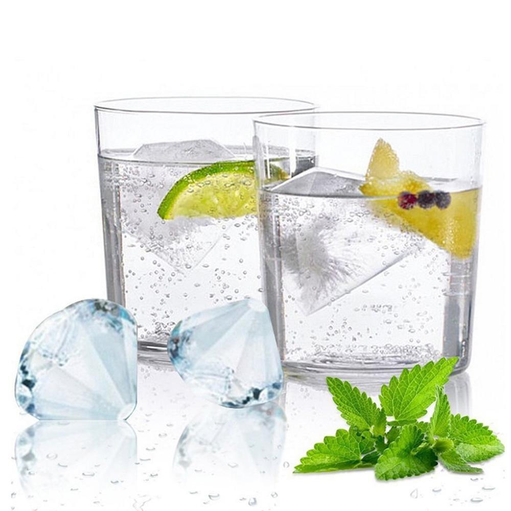 a forma di diamante per whisky scotch Leegoal cocktail stampini per cubetti di ghiaccio con coperchio in silicone bevande ghiacciate