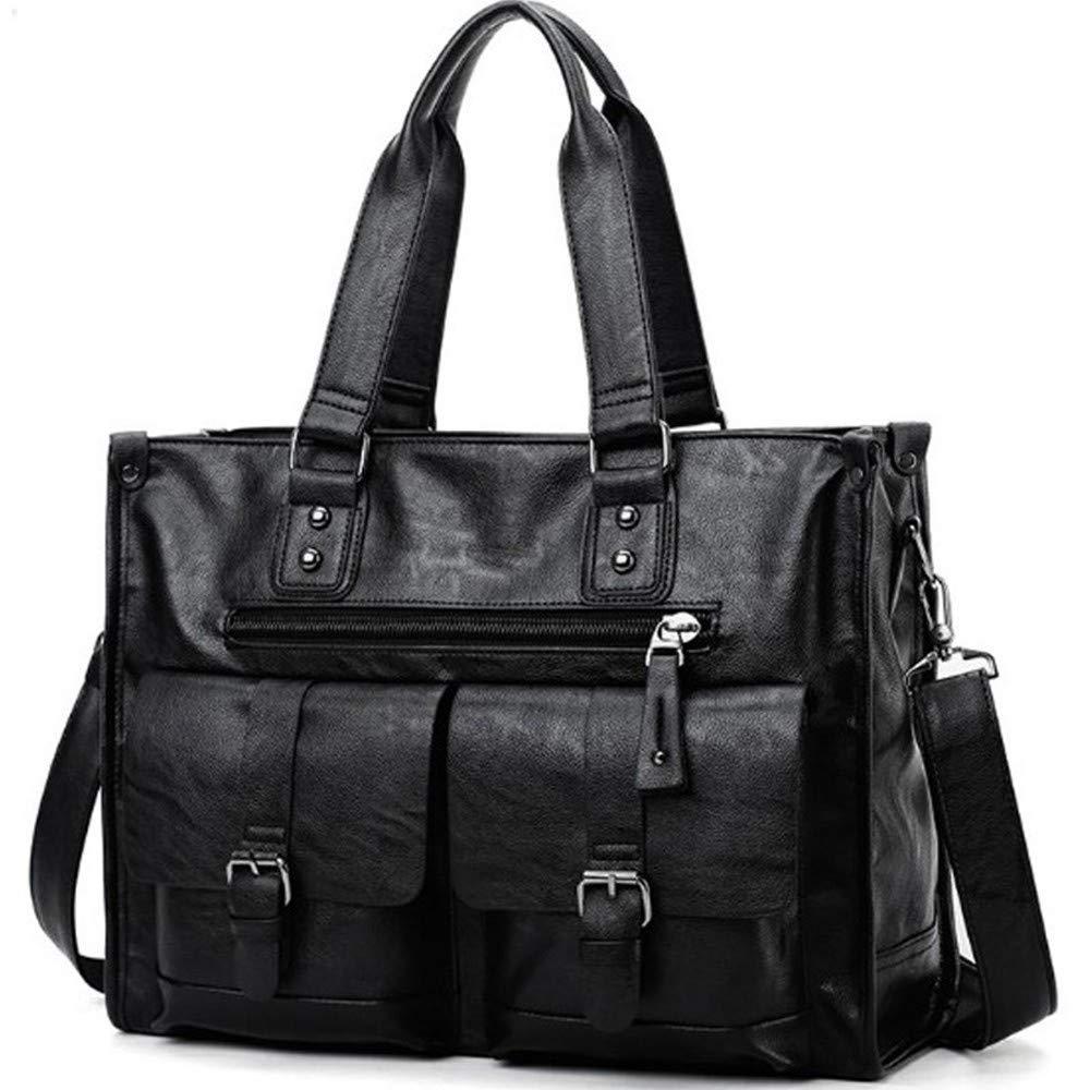Lianai11 Laptoptasche Herren Laptop Tasche Schwarz Aktentasche Mode Herren Geschäft Bag Beiläufige Männer Ledertasche
