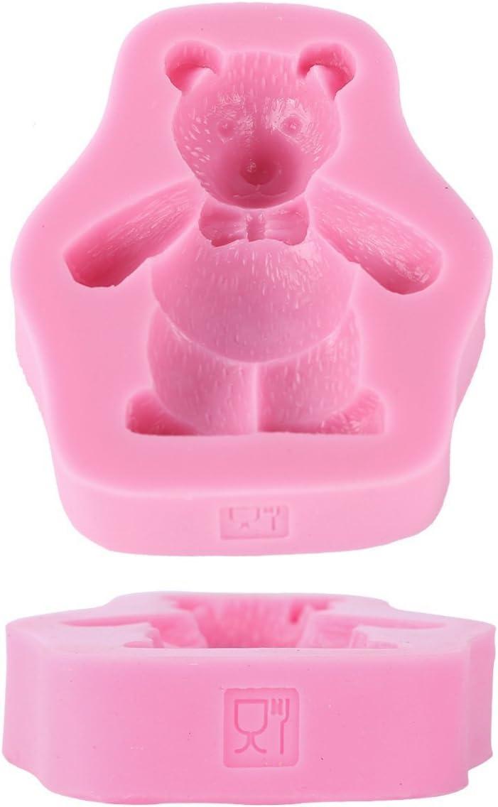 hemore DIY herramienta de molde para pastel caramelo jab/ón herramienta de artesan/ía molde de decoraci/ón/ /oso