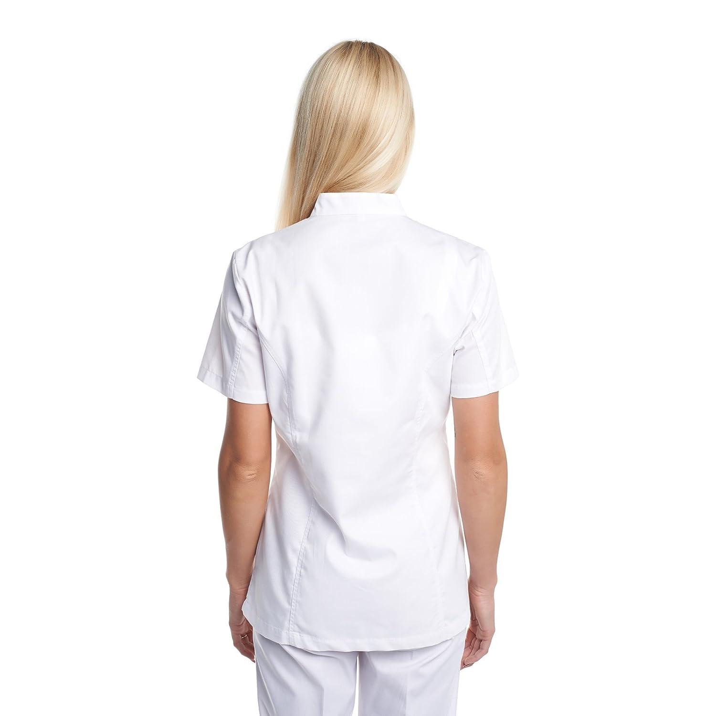 Vest Albus Bata Laboratorio de Trabajo Medicina Uniformes Sanitario (M): Amazon.es: Ropa y accesorios