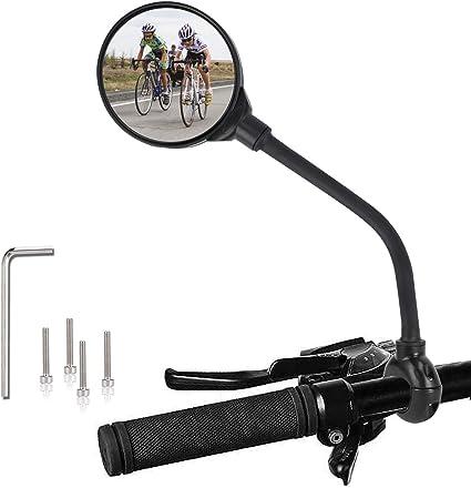 Sécurité de rétroviseur de vue arrière flexible guidon de bicyclette de vélo  qw