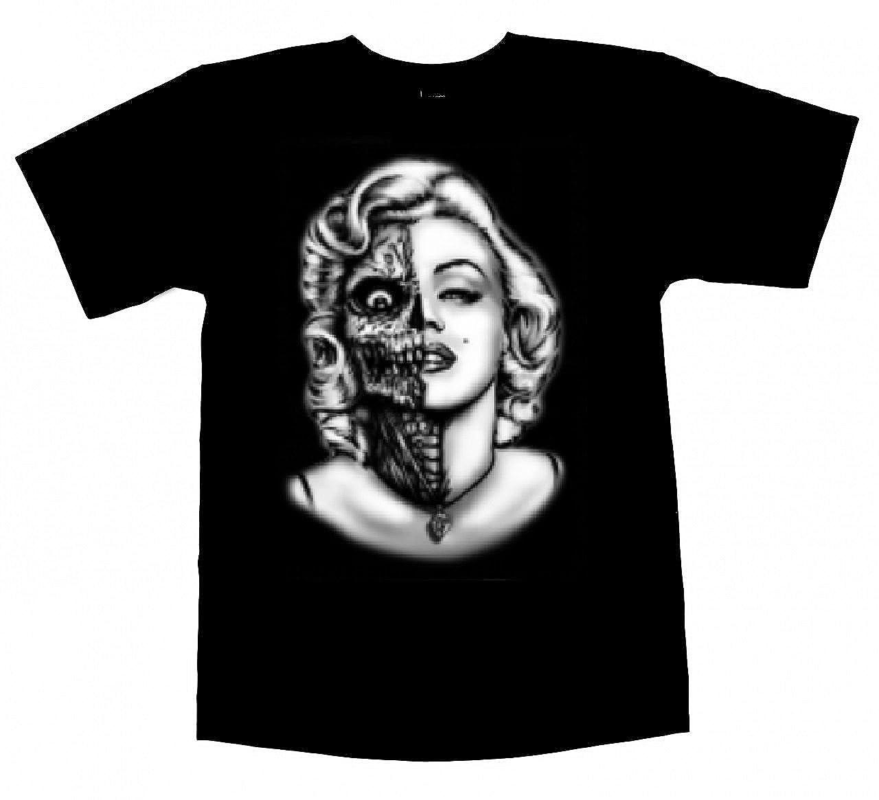 4d27c5d7d75 Top4  Marilyn Monroe Men s Shirt Sugar Skull Zombie Gangsta Black Shirt. Wholesale  Price 8.99 -  14.99. T-shirt
