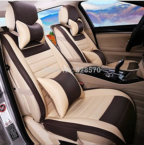 Magnificent 3D Frontline Pu Leather 3D Car Seat Cover For Honda Amaze Beige Bralicious Painted Fabric Chair Ideas Braliciousco