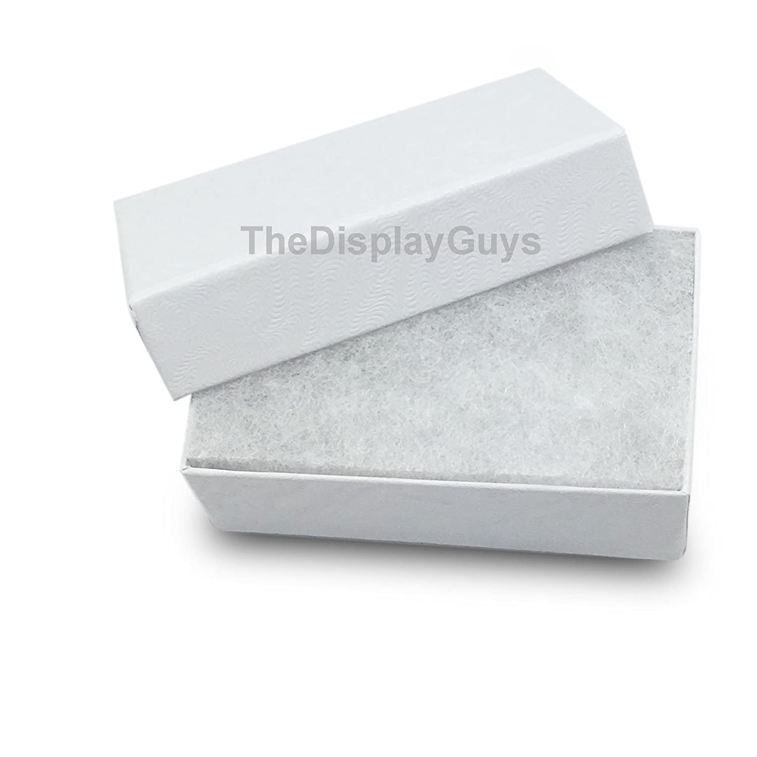 5 pcs Each of #11//#21//#32//#33//#82 The Display Guys Pack of 25 Cotton Filled Cardboard Paper White Jewelry Box Gift Case