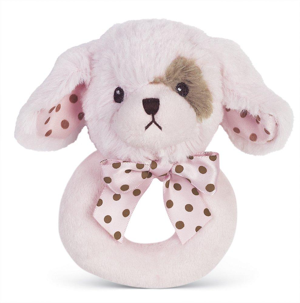 Amazon Com Bearington Wiggles Stuffed Animal Pink Puppy