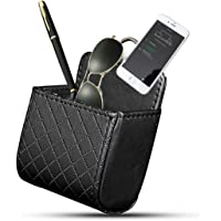 Yosoo Car Auto Seat Back Interior Air Vent Cell Phone Organizer Holder Bag Pouch Box Tidy Storage Coin Bag Case with Hook (Black)