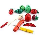 Jeu de jouets de coupe de légumes en bois Jeu de jouets de légumes Jeu de jouets pour enfants