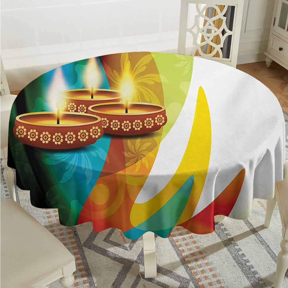 Outdoors Round Tablecloth Diving The Life of Aquatic Themed Marine Mermaid Snorkeling Octopus Sketchy Design Olive Green White Printed Tablecloth Diameter 36