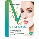 V Line Mask,Double Chin Reducer,Chin Up Patch,Face Lift V Lifting Chin Up Patch V Shape Face Lifting V Zone Mask Tape…