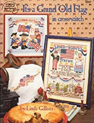 Title: Its a grand old flag in cross stitch