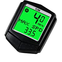 Bike Computer, LESHP Wireless Cycle Computer Waterproof Automatic Wake-up Bicycle Speedometer LCD Backlight Outdoor Chronograph Cycling Odometer
