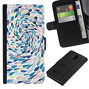iKiki Tech / Cartera Funda Carcasa - Swimming Abstract Art Metaphor - Samsung Galaxy Note 4 SM-N910F SM-N910K SM-N910C SM-N910W8 SM-N910U SM-N910