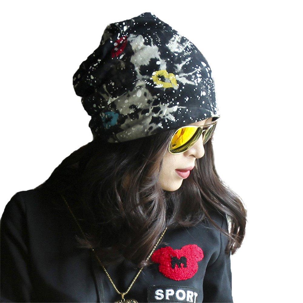 Señoras hat, invierno y verano, Sombrero de cadera nueva personalidad hat cap, Baotou hat bufanda ca...