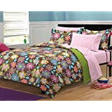 My Room Boho Garden Ultra Soft Microfiber Girls Bedding Comforter Set, Multi-Colored, Twin