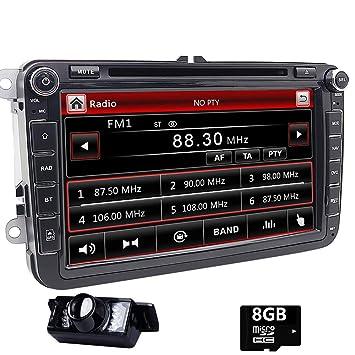 Doble DIN estéreo de 8 pulgadas pantalla táctilreproductor de DVD de coche en Dash GPS Autoradio