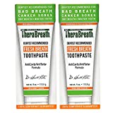 TheraBreath Dentist Recommended Fresh Breath Dry Mouth Toothpaste, Mild Mint, 4 Ounce (Pack of 2)