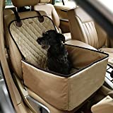 Systond Pet Dog Car Seat Cover Waterproof Booster Seat Carrier Protector 2 in 1 Deluxe Cat Front Seat Case Cushion with Non- Slip Backing for Travel Outdoor Boosterseat02