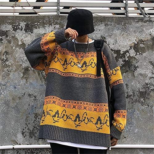 2色 ニット セーター メンズ カットソー セーター Vネック ケーブル編み 長袖 トップス 春 秋 冬 防寒 M L XL 2XL (Color : グレー, Size : XL)