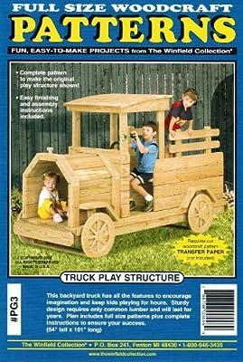 Truck Playground Structure Woodworking Pattern - Outdoor