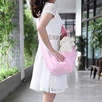YOAI Pet Tragetasche Transporttasche Pet Sling Carrier Bag Verstellbare Haustier Hund Katze Tasche Rucksäcke Hundetasche Tragetücher für Kleine Hunde und Katzen Rosa