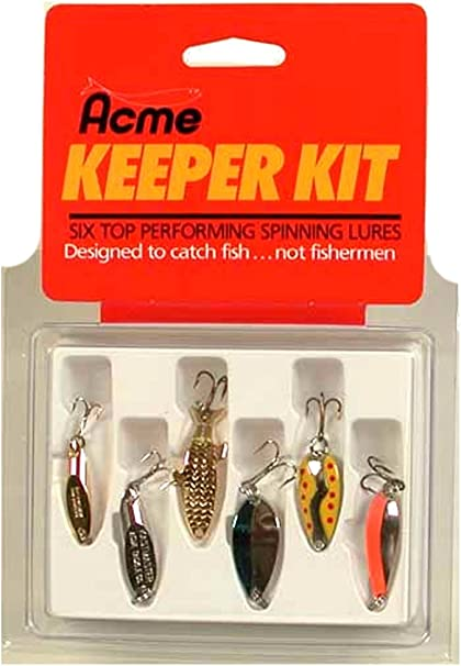 Acme Kastmaster 1//8 oz Spoon Fishing Lure Gold /& Red 3.5 grams